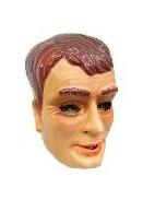 Masker jonge man - bruine haren  (34303P)