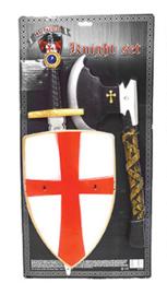 Wapenset ridders 3-delig rood (52276E)