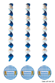 Spiraal Hangdecoratie Oktoberfest / Bierfeest - 3 stuks (84099E)