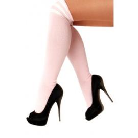 Lieskousen Pastel Pink / 3 Witte strepen (11148P)