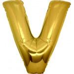 Folie Letter V - 100 cm Goud