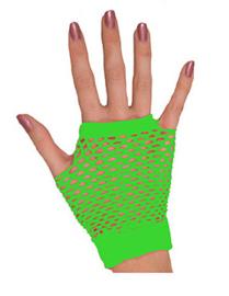 Nethandschoenen kort vingerloos Neon Groen (80063E)