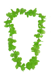 Hawaii krans / slinger bont neon groen (80048E)
