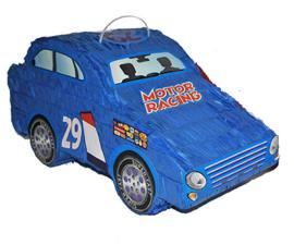 Pinata Auto blauw - 50 cm (66305E)