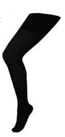 Panty volwassenen normaal Zwart (59007E)