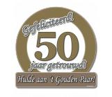 Huldeschild verkeersbord '50 getrouwd'
