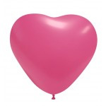 "Pastel Hart Hot Pink 10 stuks 10""  (GPF/12.02)"