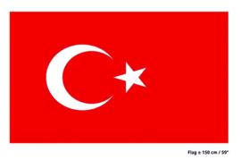 Vlag Turkije - 90 x 150 cm (62121E)