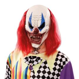 Masker duivelse clown lang haar (E200381W)