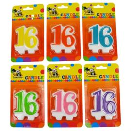 Nummerkaars / cijferkaars 16 jaar (15361W)
