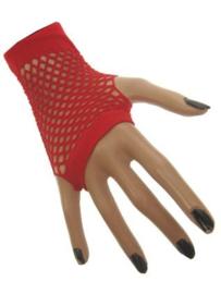 Nethandschoenen kort vingerloos Rood (60432E)