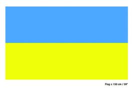 Vlag Oekraine - 90 x 150 cm (62461E)