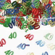 Tafelconfetti - sierconfetti  - 40 jaar (05315F)