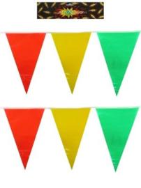 Vlaggenlijn Carnaval Rood Geel Groen 10 meter (94969P)