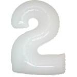 Folie Cijfer 2 - 100 cm Wit