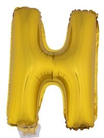 Folie Letter H - 41 cm Goud (met stokje)