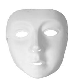 Wit masker met elastiek (61059E)