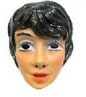 Masker mooie vrouw - zwarte haren (34302P)
