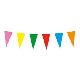 Vlaggenlijn papier Multi Color 10 meter (42021B)