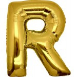 Folie Letter R - 100 cm Goud