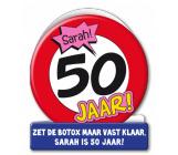 Wenskaart 50 jaar verkeersbord SARAH