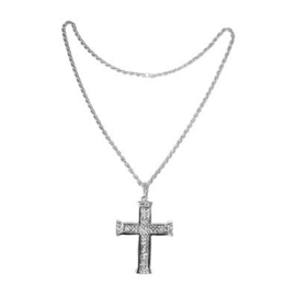 Zilveren ketting Kruis (53381E)