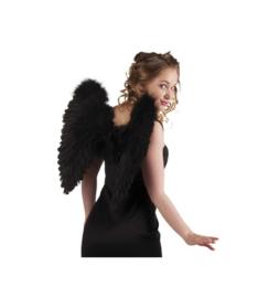 Vleugels engel Zwart - 50 cm (52821B)