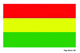 Vlag Rood Geel Groen Carnaval -  90 x 150 cm (62155E)