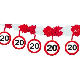Slinger met onderhanger verkeersbord 20 jaar (05219F)