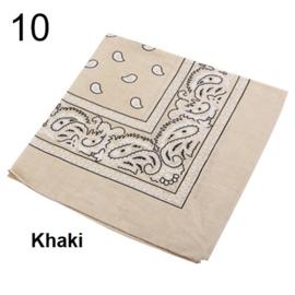 Bandana / boerenzakdoek Khaki / Beige (100% katoen - 010)