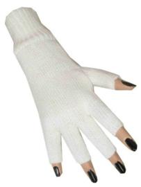 Vingerloze handschoenen wit  (10815P)