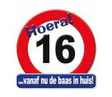 Huldeschild verkeersbord 16 jaar