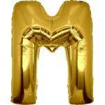 Folie Letter M - 100 cm Goud