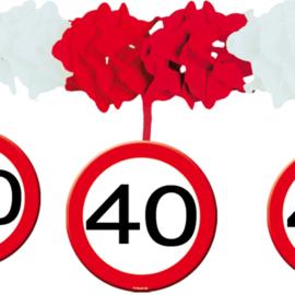 Slinger met onderhanger verkeersbord 40 jaar (05231F)