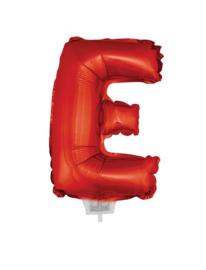 Folie Letter E - 41 cm Rood (met stokje)