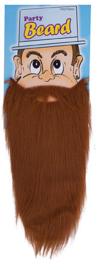 Baard en snor Bruin met elastiek (58351E)