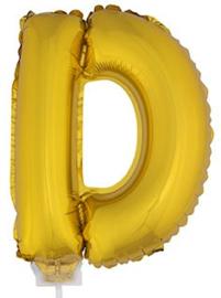 Folie Letter D - 41 cm Goud (met stokje)