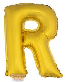 Folie Letter R - 41 cm Goud (met stokje)