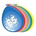 Ballonnen 65 jaar (30cm, 8 stuks)