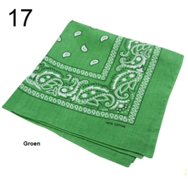 Bandana / boerenzakdoek Groen (100% katoen - 017)