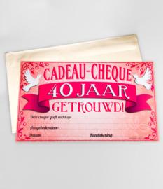 Cadeau-cheque 40 JAAR GETROUWD (30PD)