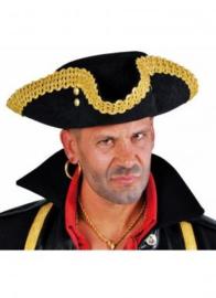 Driesteek / driespits Captain Hook Zwart/Goud Maat 58 (99360F)