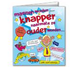 Wenskaart MANNEN WORDEN KNAPPER...