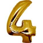 Folie Cijfer 43 - 100 cm Goud