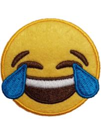 Strijkapplicatie Smiley Lach Traan (0149H)