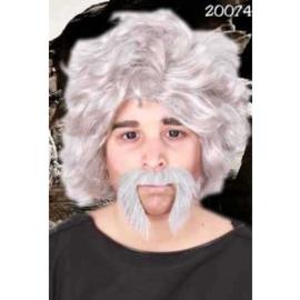 Snor Macho Grijs (20074P)