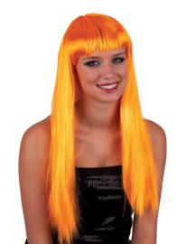 Pony pruik Oranje (57652E)