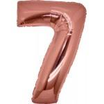 Folie Cijfer 7 - 100 cm Antiek Roze
