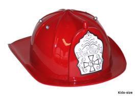 Verstelbare brandweerhelm kind rood (52022E)