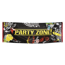 Banner / spandoek  Party Zone! -  220 x 74 cm (44701B)